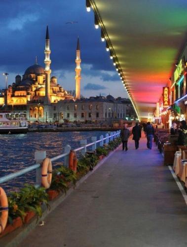 Under the Galata Bridge , Istanbul Turkiye